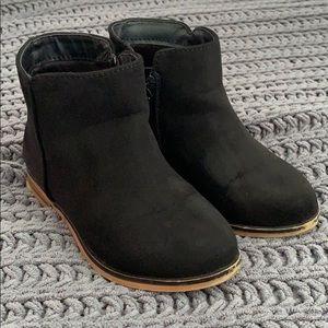 Black toddler booties